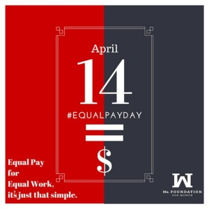 Poster for Equal Pay Day, April 14, 2015