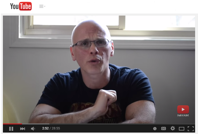 Screencap from video showing Yourofsky explaining himself