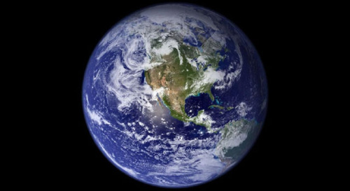 photo is of the earth, a view from space.